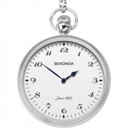 Mens Sekonda Pocket Watch and Chain 1792