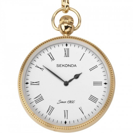 Mens Sekonda GP Pocket Watch and Chain 1793