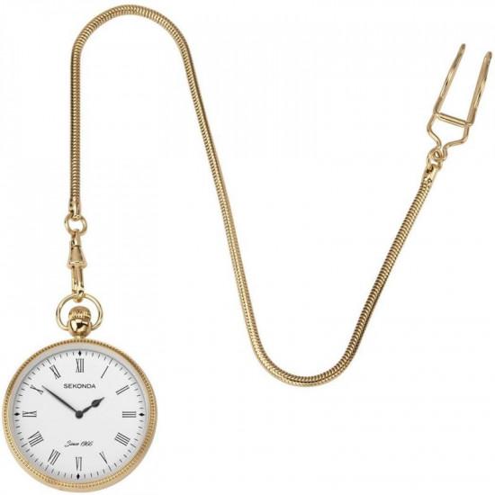 Mens Sekonda GP Pocket Watch and Chain 1793