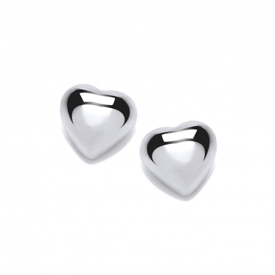 Cavendish French Simple Silver Heart Stud Earrings 4947