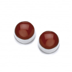 Cavendish French Little Red Button Stud Earrings 5081