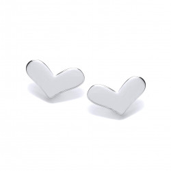 Cavendish French Silver Happy Heart Earrings 5676