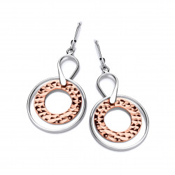Cavendish French Sterling Silver and Copper Astral Earrings 5697