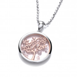 Cavendish French Silver Celestial Tree of Life Design Pendant Chain 6428