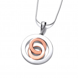 Cavendish French Silver and Copper Twisted Round Pendant 6542