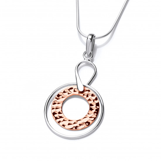 Cavendish French Sterling Silver and Copper Astral Pendant 6693