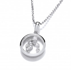 Cavendish French Celestial Silver and CZ Seahorse Pendant and Chain 6713