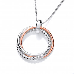 Cavendish French Sterling Silver and Copper Trio Ring Pendant 6739