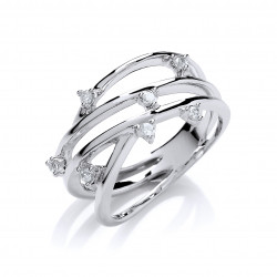 Cavendish French Silver CZ Ring 7331
