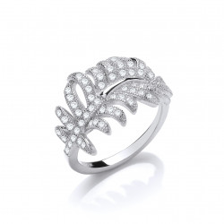 Cavendish French Silver Feather Ring 7366