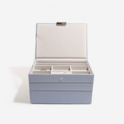 Stackers Dusky Blue Classic Jewellery Box Set of 3 73773