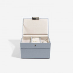 Stackers Dusky Blue Mini Jewellery Box Set of 3 73896