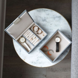 Stackers Dusky Blue Mini Jewellery Box Set of 3 73896