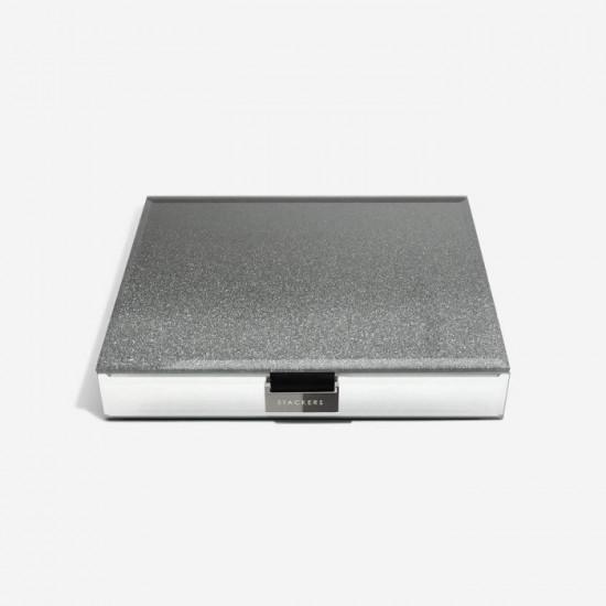 Stackers Graphite Glitter Glass Classic Jewellery Box Lid 75473