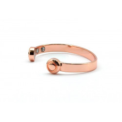 Magnetic Plain Copper Bangle BA162M