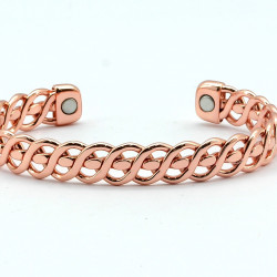 Magnetic Twisted Copper Bangle BA170M