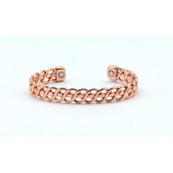 Magnetic Twisted Copper Bangle BA170M
