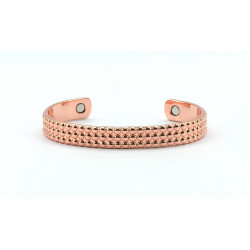 Magnetic Dotted Copper Bangle BA174M