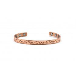 Magnetic Vine Pattern Copper Bangle BA179M