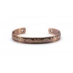 Magnetic Leaf Design Copper Bangle BA185M