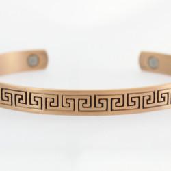 Magnetic Greek Key Copper Bangle BA41M