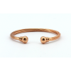 Magnetic Twisted Torque Copper Bangle BA77M