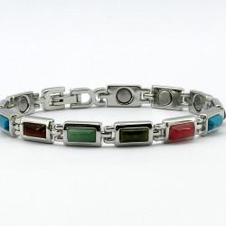 Magnetic Multi Coloured Stone Bracelet BR113M