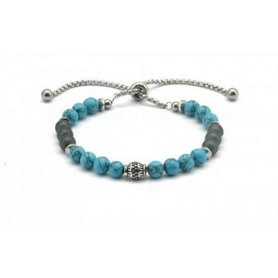 Magnetic Hematite Bead Bracelet FH0076