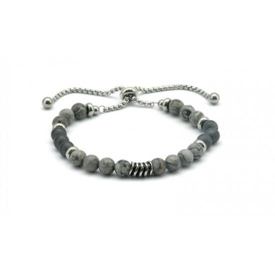 Magnetic Hematite Bead Bracelet FH0078