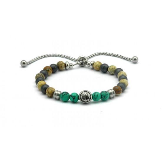 Magnetic Hematite Bead Bracelet FH0083