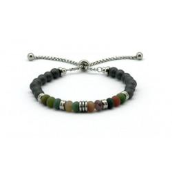 Magnetic Hematite Bead Bracelet FH0094