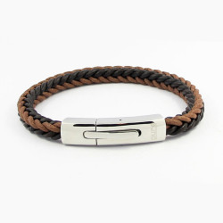 Magnetic Mens Leather Bracelet LB01M