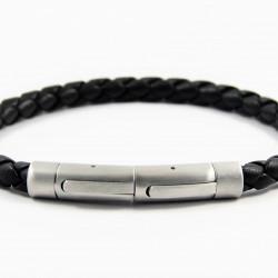 Magnetic Mens Leather Bracelet LB05M