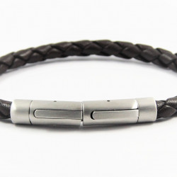 Magnetic Mens Leather Bracelet LB06M