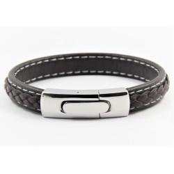 Magnetic Mens Leather Bracelet LB12LM