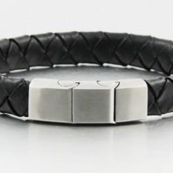 Magnetic Mens Leather Bracelet LB22M