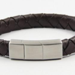 Magnetic Mens Leather Bracelet LB23M