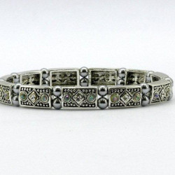 Magnetic Hematite Bead Patterned Bracelet MH1852