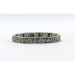Magnetic Hematite Bead Patterned Bracelet MH1852