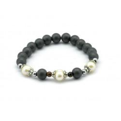 Magnetic Hematite Bead Bracelet MH1904
