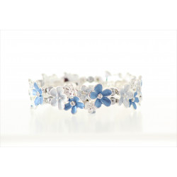 Magnetic Blue flower Bracelet MH3385
