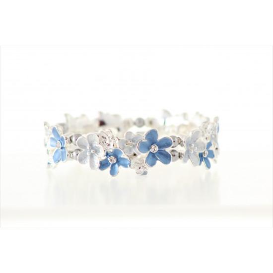 Magnetic Blue flower Bracelet MH3385