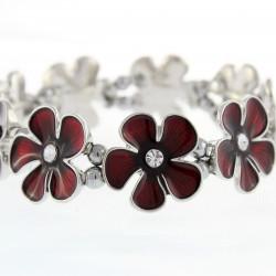 Magnetic Red Flower Bracelet MH3442