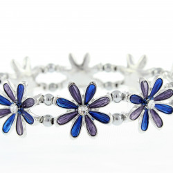 Magnetic Blue Flower Bracelet MH3443