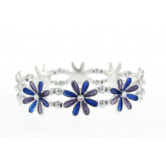 Magnetic Blue Flower Bracelet MH3443