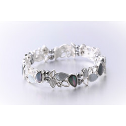 Magnetic Black and White Stone Bracelet MH3457