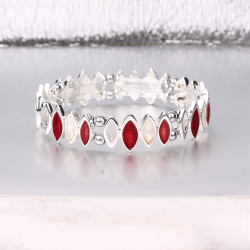 Magnetic Red and White Stone Bracelet MH3528