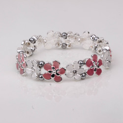 Magnetic Pink Flower Bracelet MH3545