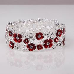 Magnetic Red Flower Bracelet MH3546