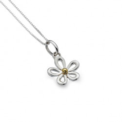 Sea Gems Silver Daisy Pendant and Chain P1151